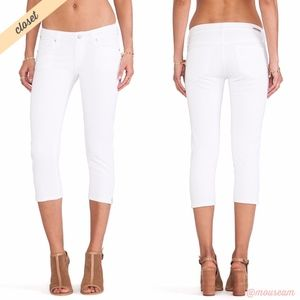 [CoH] White Racer Crop Skinny Jeans